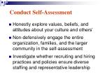 conduct self assessment