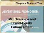imc overview and brand equity enhancement