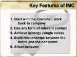 key features of imc