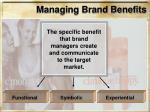 managing brand benefits