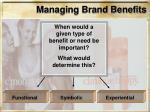 managing brand benefits25