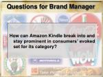 questions for brand manager