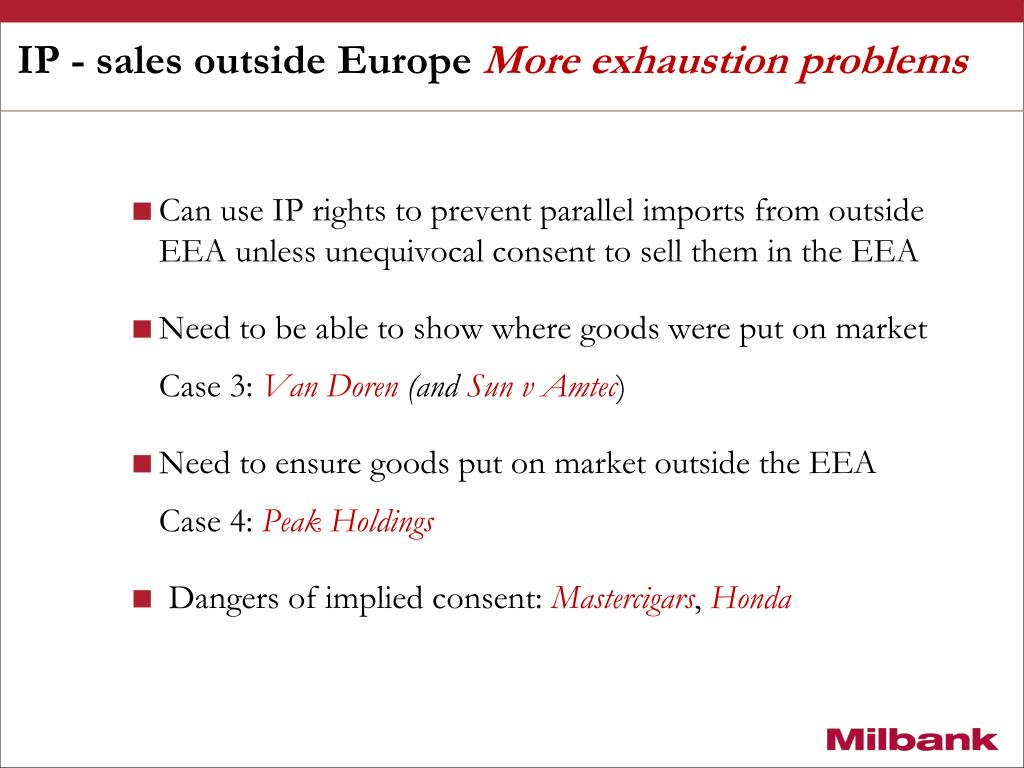 IP - sales outside Europe