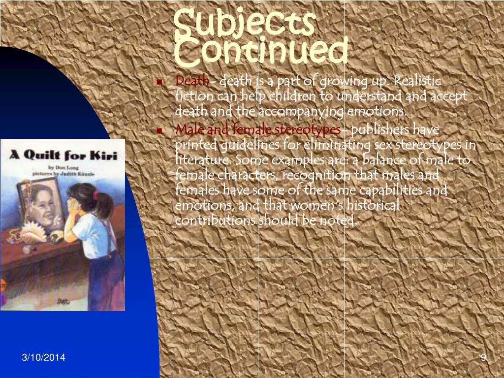 Subjects Continued