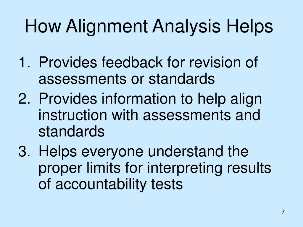 How Alignment Analysis Helps