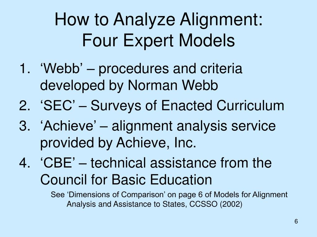 How to Analyze Alignment: