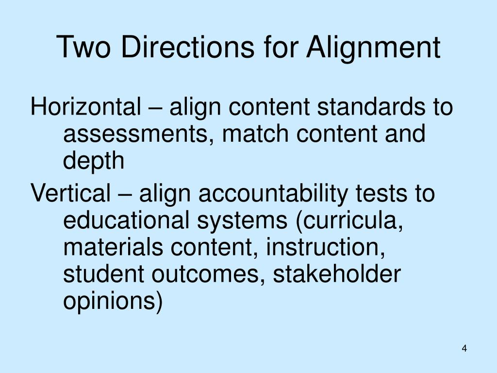 Two Directions for Alignment