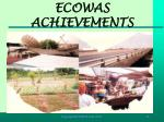 ecowas achievements
