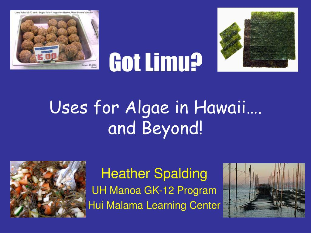 got limu uses for algae in hawaii and beyond l.