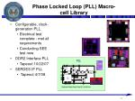phase locked loop pll macro cell library