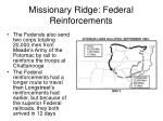 missionary ridge federal reinforcements