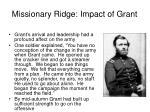 missionary ridge impact of grant