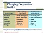 changing corporation cont