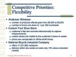 competitive priorities flexibility