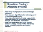 operations strategy operating systems