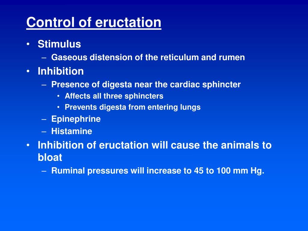 Control of eructation