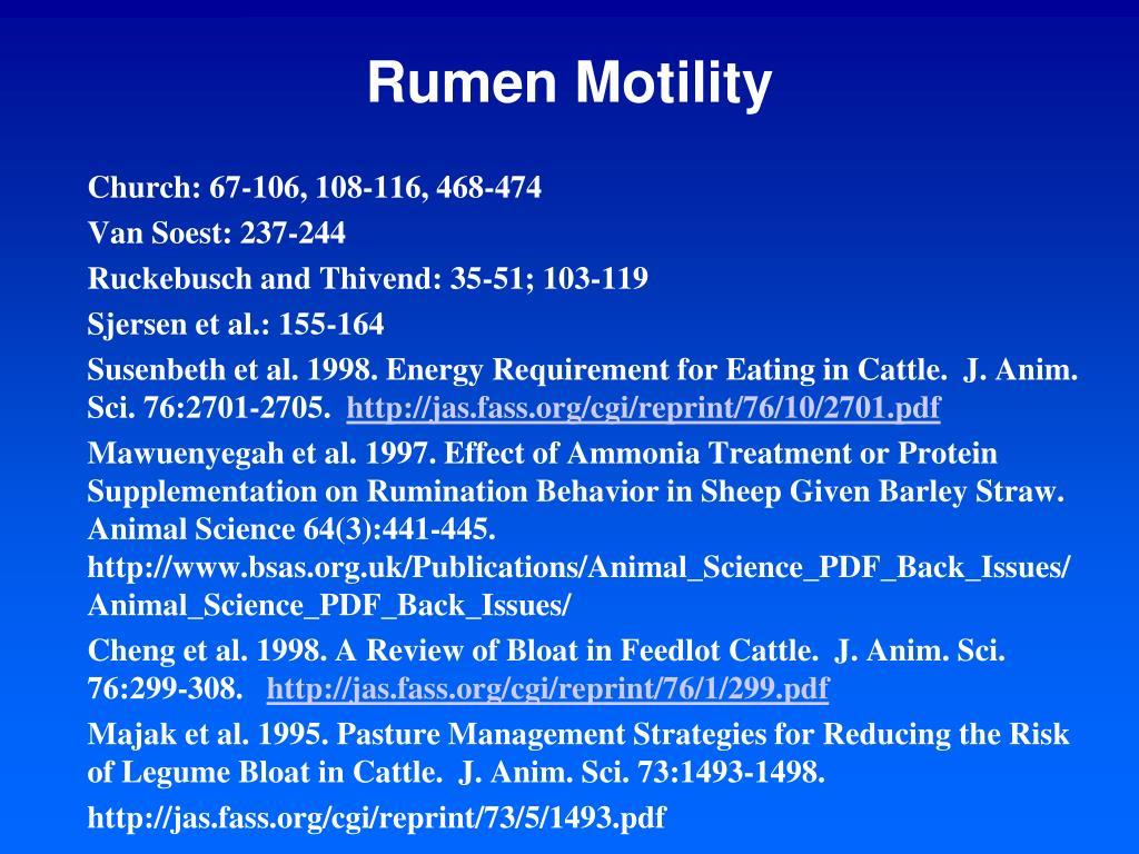 Rumen Motility