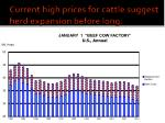 current high prices for cattle suggest herd expansion before long