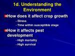 1d understanding the environment