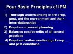 four basic principles of ipm