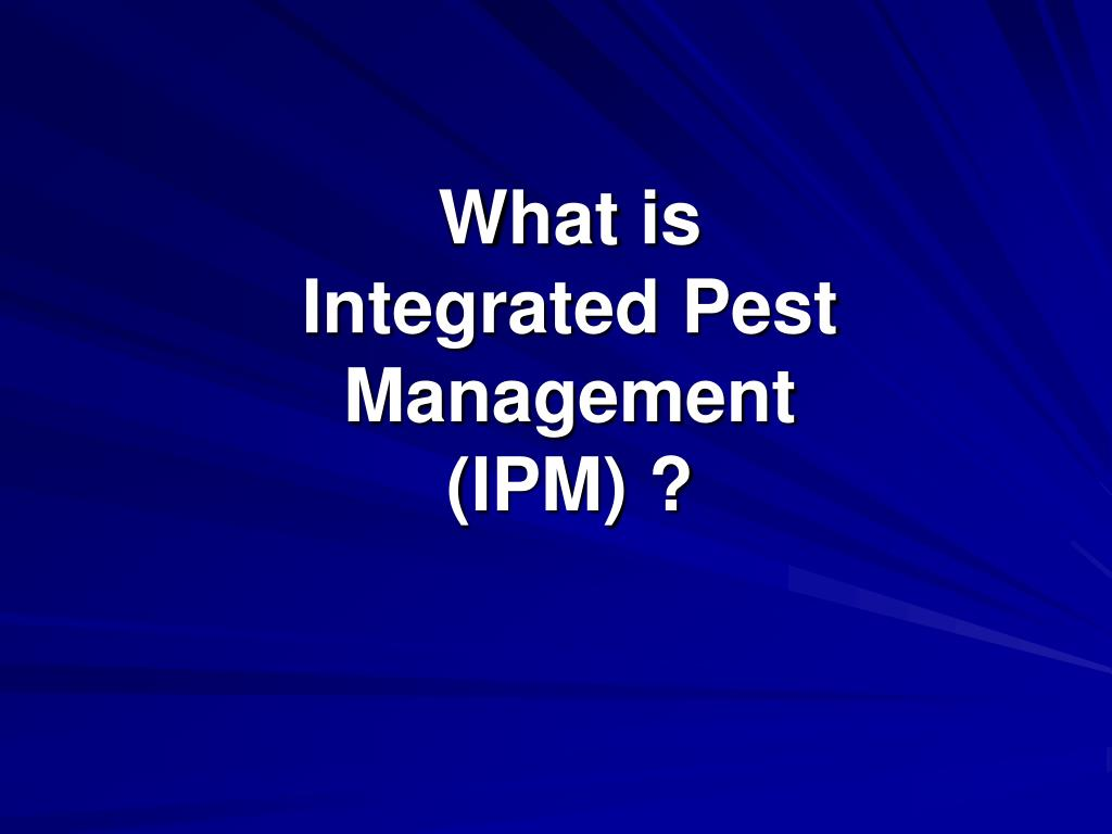 what is integrated pest management ipm l.