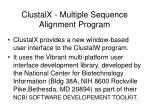 clustalx multiple sequence alignment program