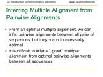 inferring multiple alignment from pairwise alignments