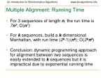 multiple alignment running time