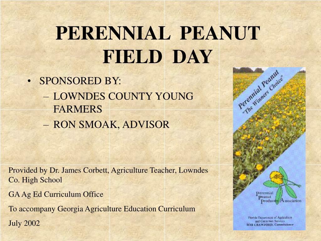 perennial peanut field day l.