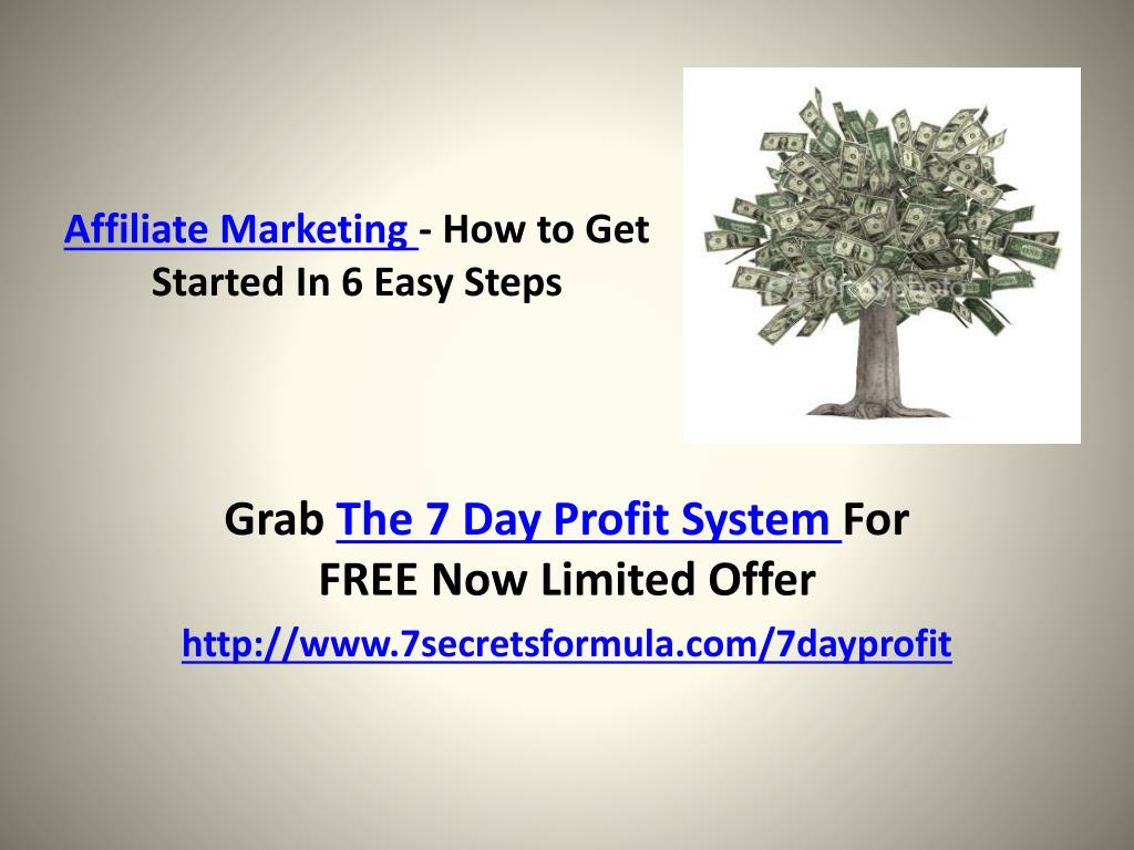 affiliate marketing how to get started in 6 easy steps l.