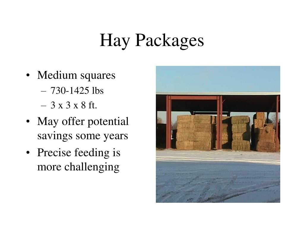 Hay Packages