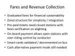 fares and revenue collection