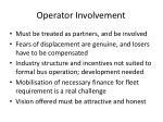 operator involvement