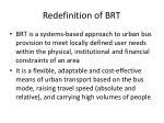 redefinition of brt