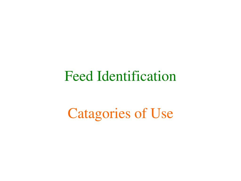 feed identification l.