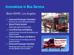 innovations in bus service