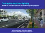 taming the suburban highway mixed use buildings added one at a time on adjacent properties25