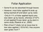 foliar application