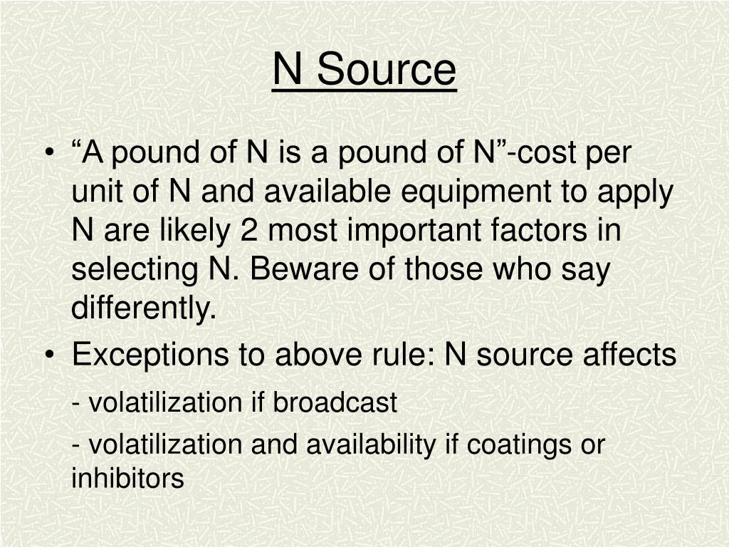 N Source
