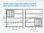 growth rates of hair sheep lambs and meat goats kids fed alfalfa and grass hay trial 2
