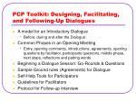 pcp toolkit designing facilitating and following up dialogues