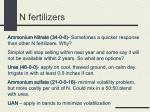 n fertilizers