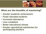 what are the benefits of mentoring