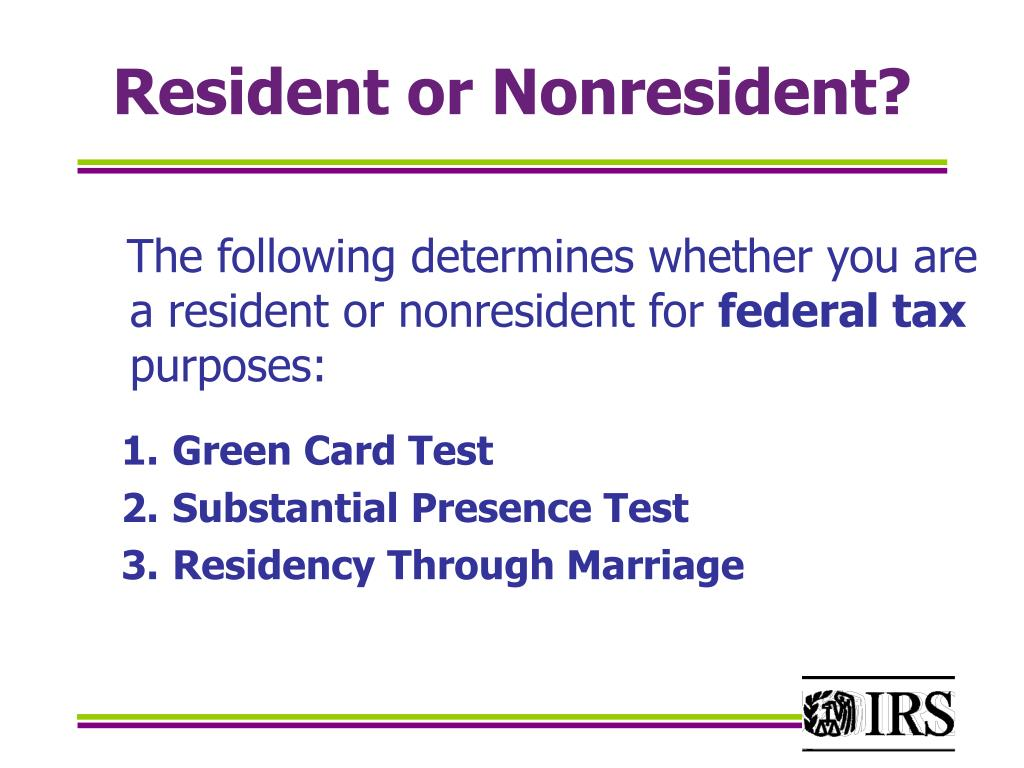 Resident or Nonresident?