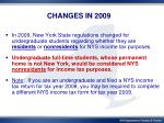 changes in 2009