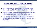 e filing your nys income tax return