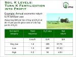 soil k levels turn k fertilization into profit