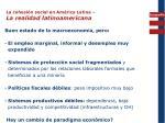 la cohesi n social en am rica latina la realidad latinoamericana