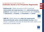 la respuesta de la uni n europea 5 6 cohesi n social y los proyectos regionales