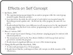 effects on self concept